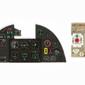 late Yahu YMA2417 1//24 P-47D Thunderbolt Instrument Panel