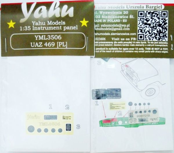 YML3506 UAZ 469 PL etyk