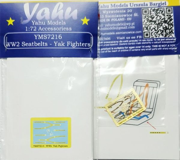YMS7216 Ww2 aeatbelts Yaj Fighters etyk